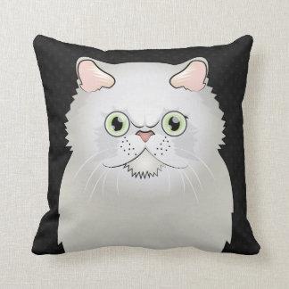 Persian Cat Cartoon White Flat-Face Pillow