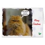 Persian Cat Christmas Card