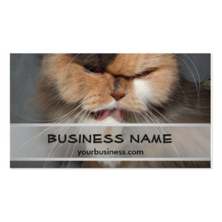 Persian Cat Head - Pet Salon Business Card