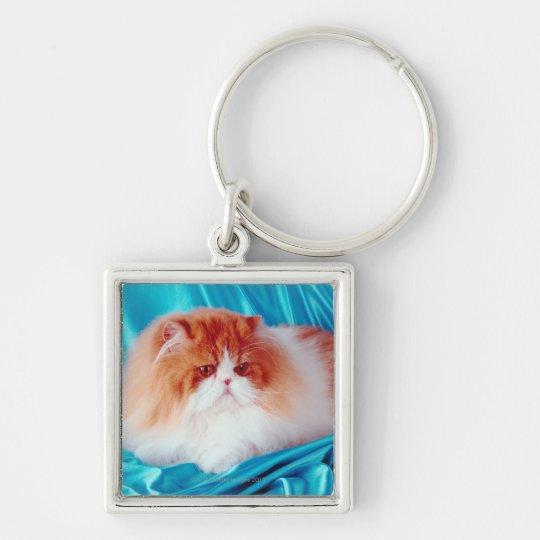 Persian cat keychain