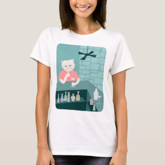 Persian Cat Martini Bar T-Shirt