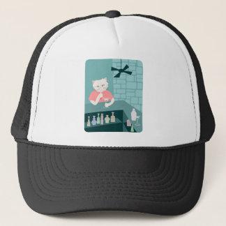 Persian Cat Martini Bar Trucker Hat