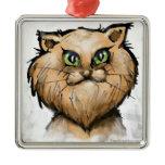 Persian Cat Metal Ornament