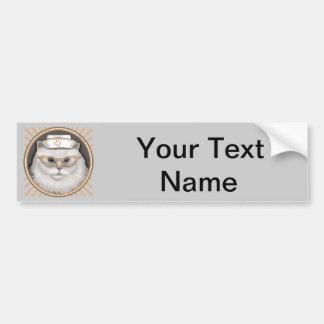 Persian Cat Nurse Bumper Stickers