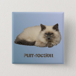 Persian Cat Pinback Button