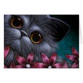 PERSIAN CAT - PINK FLOWERS CUSTOMIZE Card