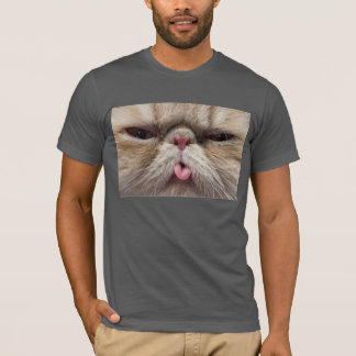 Persian Cat Sticking Tongue Out T-Shirt