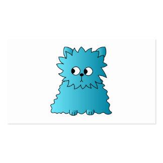 Persian Cat. Teal. Business Card