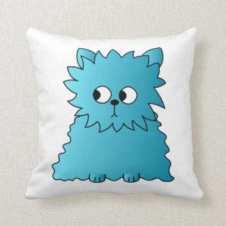 Persian Cat Teal Throw Pillows