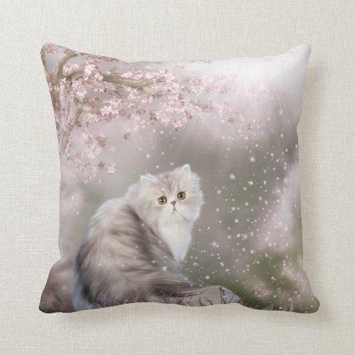 Persian cat throw pillow Zazzle