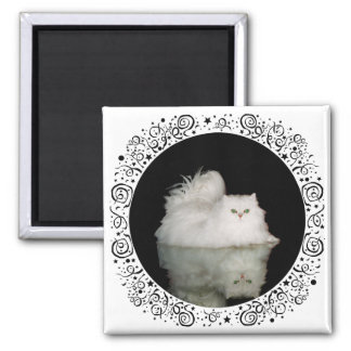 Persian Cat with Jade Green Eyes Magnet