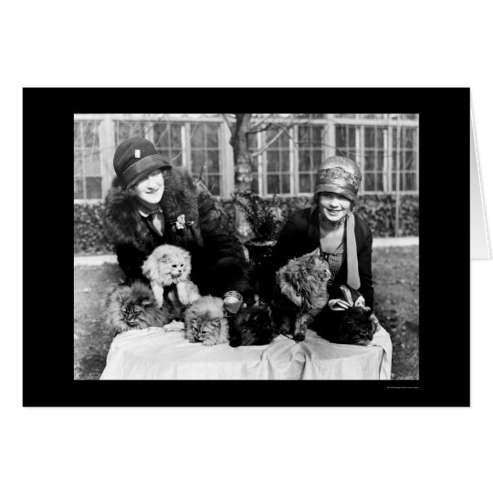 Persian Cats and American Ladies 1924 Card