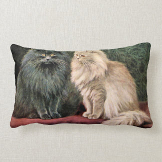 Persian Cats - Blue and Cream Throw Pillow