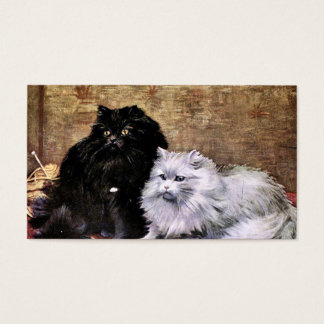 Persian Cats Painting Business Card