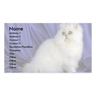 Persian, chinchilla business card
