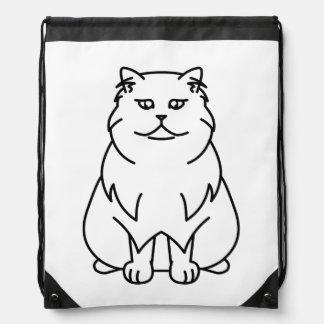 Persian Chinchilla Cat Cartoon Drawstring Backpack