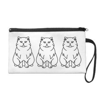 Persian Chinchilla Cat Cartoon Wristlet