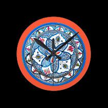 Persian Circle Clock Face wall clocks