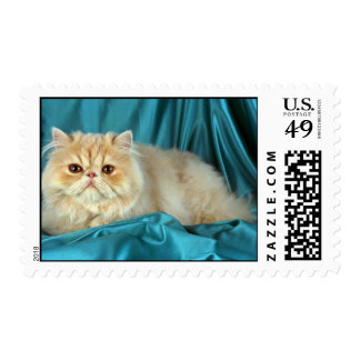 Persian, cream postage stamp