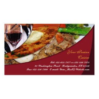 Persian Cuisine Business Card