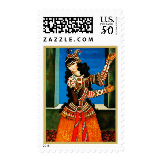 Persian Dancing Girl. Postage stamps