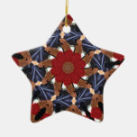 Persian Dreamcatcher Double-Sided Star Ceramic Christmas Ornament