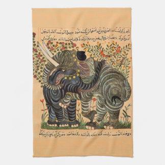 Persian Elephant kitchen towel