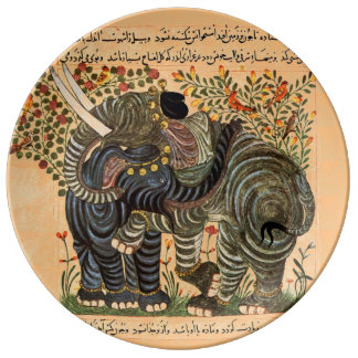 Persian Elephants plate