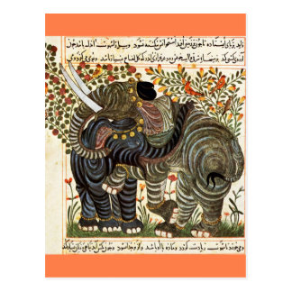 Persian Elephants postcard