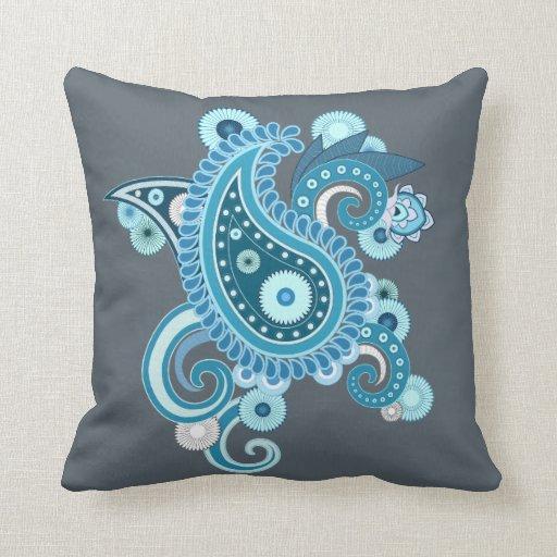 Persian Design Throw Pillows : Persian Flower Throw Pillow Zazzle