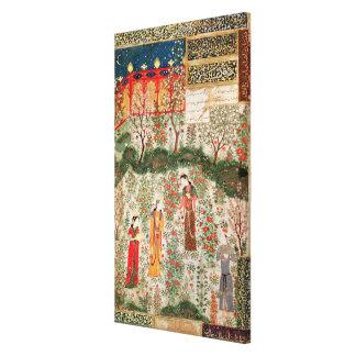 Persian Garden, 15th century (w/c on paper) Canvas Print
