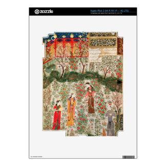 Persian Garden, 15th century (w/c on paper) Skin For iPad 3