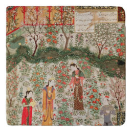 Persian Garden, 15th century (w/c on paper) Trivet