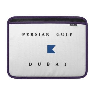 Persian Gulf Dubai Alpha Dive Flag MacBook Sleeves