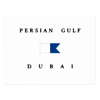 Persian Gulf Dubai Alpha Dive Flag Postcard