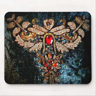 PERSIAN JEWELED EMBROIDERED PILLOW DESIGN MOUSE PAD