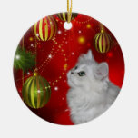 Persian kitten Christmas Ceramic Ornament