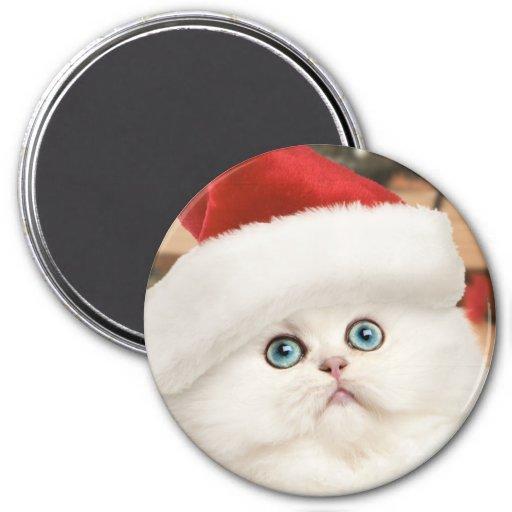 Persian Kitten Christmas Magnet