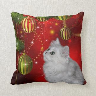 Persian kitten Christmas Pillow