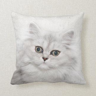 Persian kitten face throw pillow