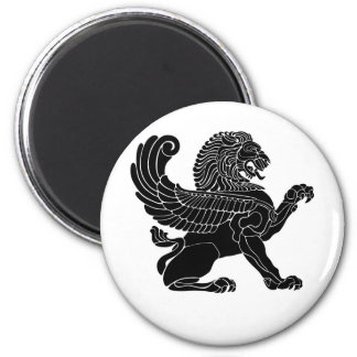 persian lion 2 inch round magnet