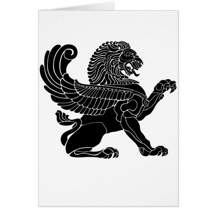 persian lion card