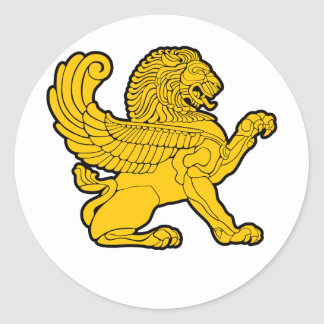 persian lion classic round sticker