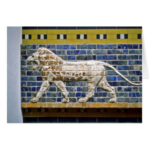 Persian Lion - Glazed Brick, Istanbul Greeting Card