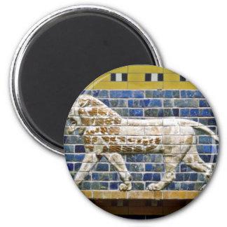 Persian Lion - Glazed Brick, Istanbul 2 Inch Round Magnet