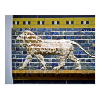Persian Lion - Glazed Brick, Istanbul Postcard