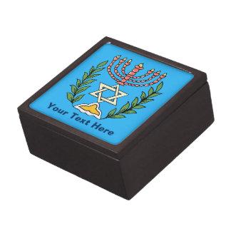 Persian Magen David Menorah Jewelry Box