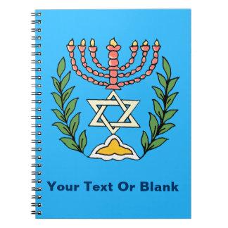 Persian Magen David Menorah Notebook