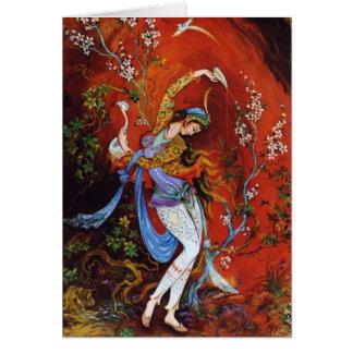 Persian Miniature Dancing Nymph Card