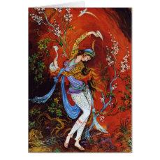 Persian Miniature Dancing Nymph Cards